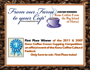 Arianna Farms 'Ono Kona Coffee